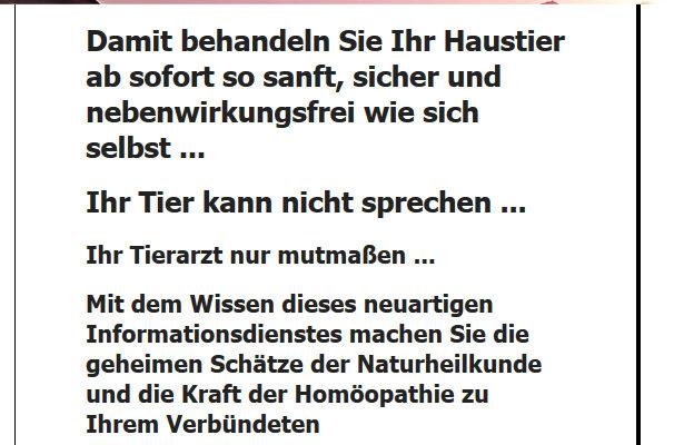 """Erschreckend: Newsletter Mit Überschrift """"Jetzt Brauche Ich Keinen Tierarzt Mehr!"""""""