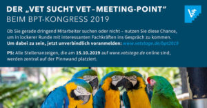 """Der """"Vet sucht Vet Meetingpoint"""" auf dem bpt Kongress 2019 in München"""