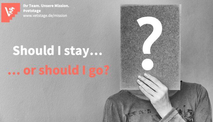 """""""Should I Stay, Or Should I Go ?""""- Mitarbeiter*innen Halten Durch Motivierende Führung"""